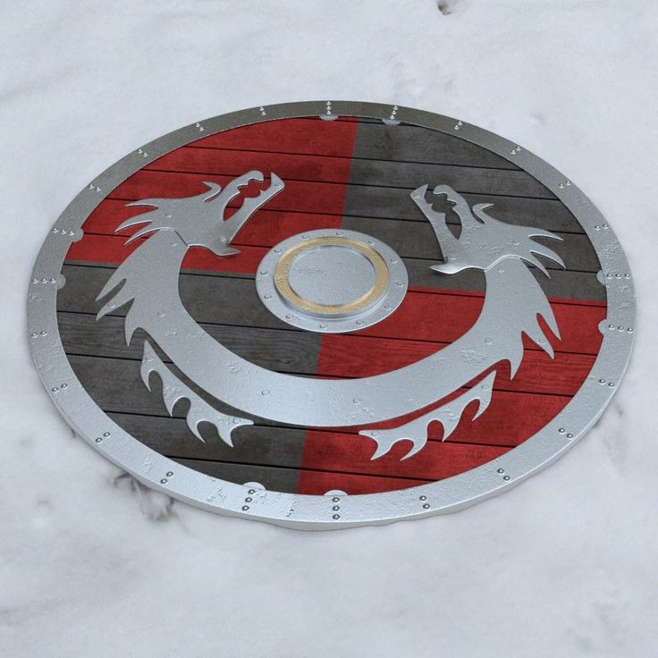 3D Model Shield - Dragon Broad Rivet and Emblem designs - 05020403 | Free 3D Models - Shields | Squirrel Studio - 3D Squirrel