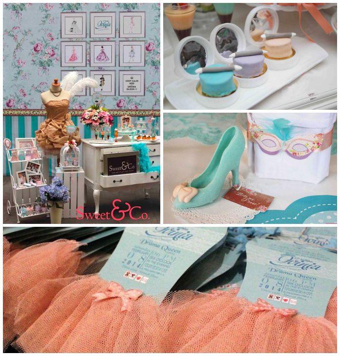 Drama Queen + Fashion Birthday Party | Kara's Party Ideas | KarasPartyIdeas.com #fashionparty