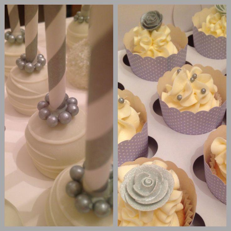 Elegant cupcakes and cake pops