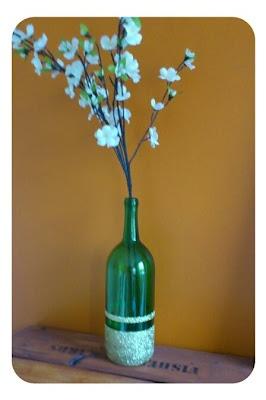 Glitter + Wine bottle