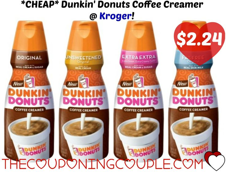 *CHEAP* Dunkin' Donuts Coffee Creamer @ Kroger! Head over and print this $0.75/1 Dunkin' Donuts Coffee Creamer coupon to pair with a great sale price at Kroger!  Click the link below to get all of the details ► http://www.thecouponingcouple.com/cheap-dunkin-donuts-coffee-creamer-kroger-just-2-24-reg-3-59/ #Coupons #Couponing #CouponCommunity  Visit us at http://www.thecouponingcouple.com for more great posts!