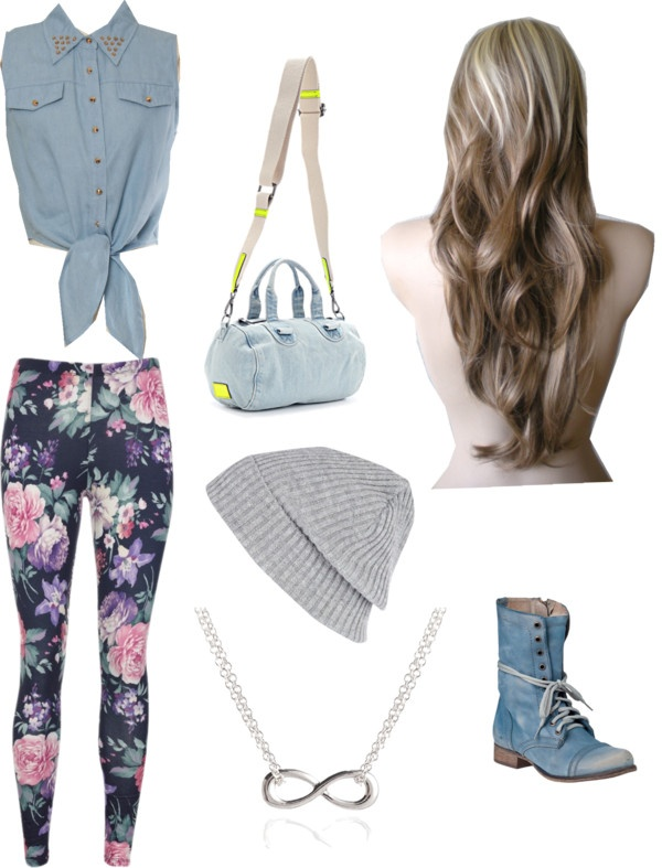 """floral outfit"" by shofaslsbl ❤ liked on Polyvore"