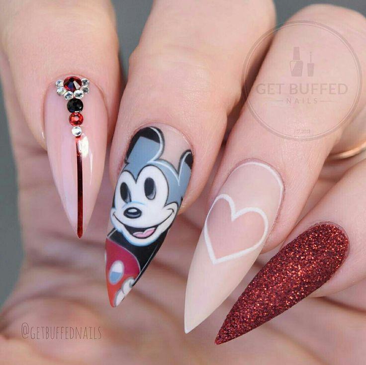 Cute Disney nail art don't like the shape though