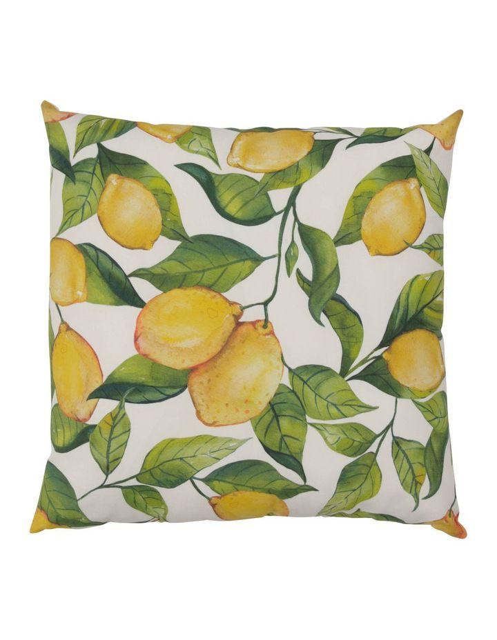 salerno lemon outdoor cushion in yellow