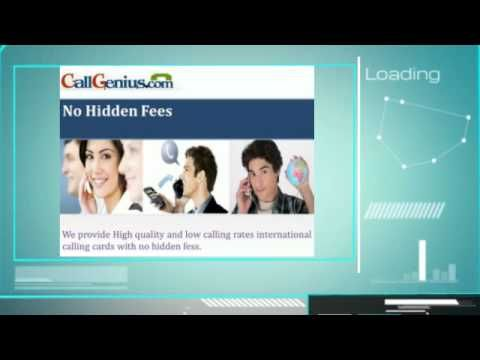 Call Genius is a credible online store offers the reliable online international calling cards for domestic and international calls.