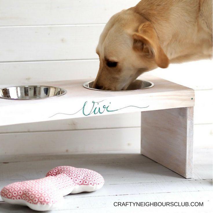 Wie ihr eine DIY-Bar als Futterstation für den Hund selber machen nachbauen könnt, zeigen wir euch auf craftneighboursclub.com