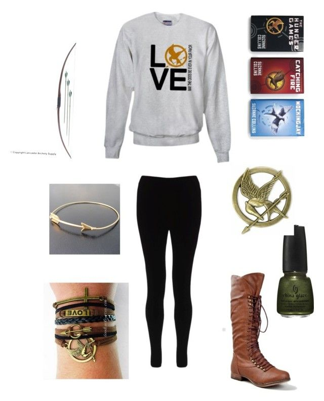 """Hunger Games Fanatic!"" by lay1d5 ❤ liked on Polyvore featuring China Glaze, Asprey and Lipsy"