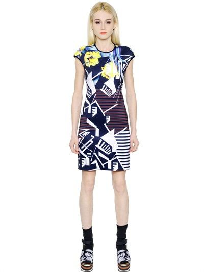 CLOVER CANYON FLORAL RHYTHM NEOPRENE DRESS, MULTICOLOR. #clovercanyon #cloth #dresses