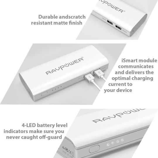 Best Deals 66% OFF RAVPower Portable Charger 13400mAh Power Bank External | Amazon:   Best Deals 66% OFF RAVPower Portable Charger 13400mAh (2A Input 4.5A Dual USB Output) Power Bank External Battery Pack with iSmart Technology for iPhone iPad Smartphones and Tablets (White) | Amazonhttp://bit.ly/2hi9wji#TodayDeals #DailyDeals #DealoftheDay - 4.5A Output: Highest output in the market featuring a 4.5A total output capable of simultaneously charging 2 tablets making it faster and more powerful…