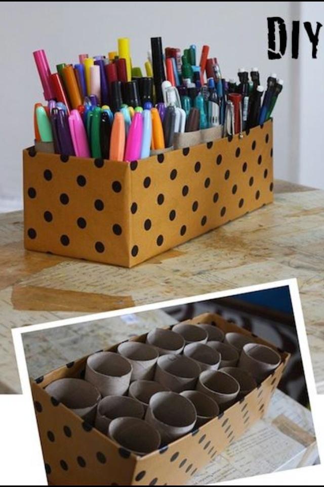 Clever Desk Tidy Handmade Pinterest Desks And Craft Storage