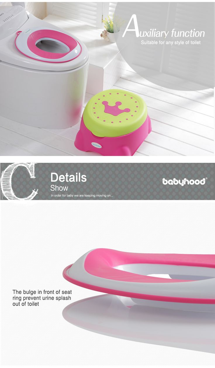 BABYHOOD plastic baby toilet seat - Look at this!!!