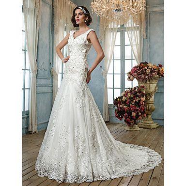 a-lijn prinses anne tule bruidsjurk – EUR € 285.85