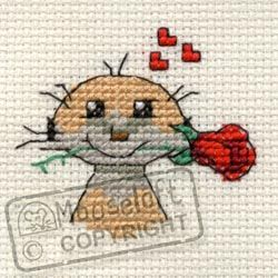 Meerkat with Rose stitchlet kit from Mouseloft - so cute! And it only costs £2.89, bargain!