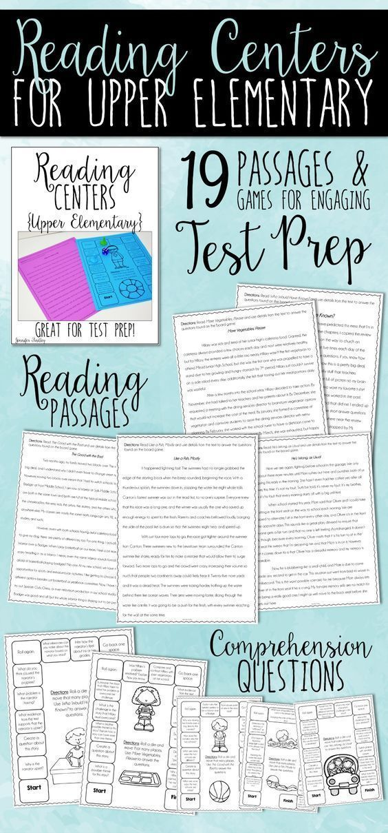 Do you need some engaging and low prep reading centers for upper elementary? This resource includes 19 reading test prep centers that are rigorous and engaging. The set includes 6 fiction stories, 4 poems, 6 informational texts, and 3 paired texts.