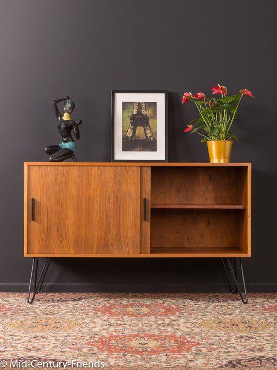 60er Sideboard Kommode 50er Vintage Etsy 60er Mobel Tv Mobel