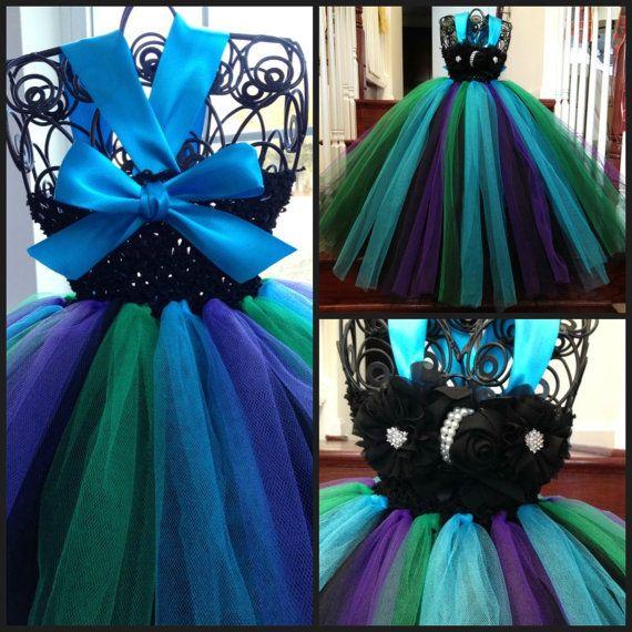 Peacock Flower Girl Dress by GigglesandWiggles1 on Etsy, $55.00