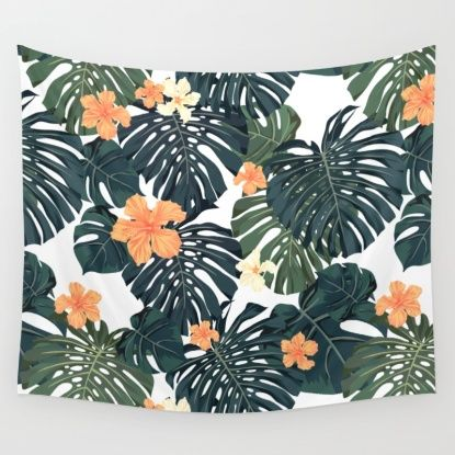 Tropical retro Wall Tapestry