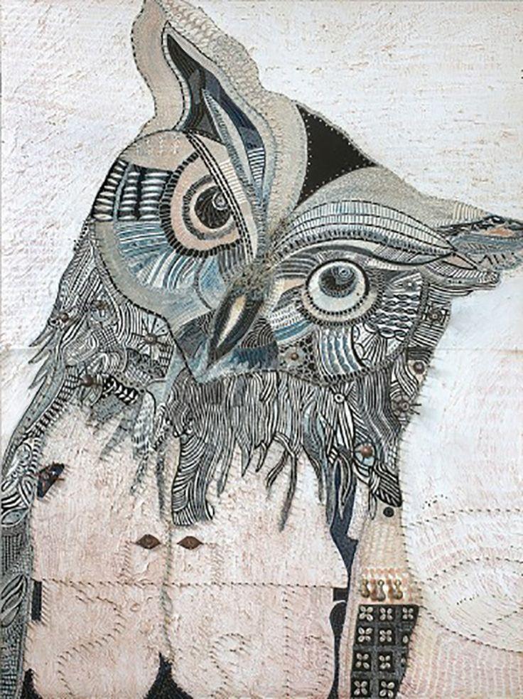 """Spinafex Owl"" par Joshua Yeldham"