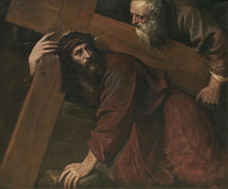 Cristo camino del Calvario // Hacia 1560 // TIZIANO, VECELLIO DI ...