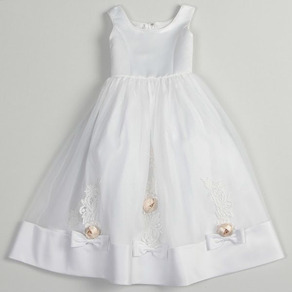 Sweetie Pie Girls Special-Occasion White-Rum Dress