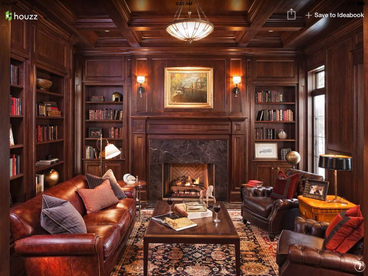 merilane traditional family room by stonewood llc the perfect den office