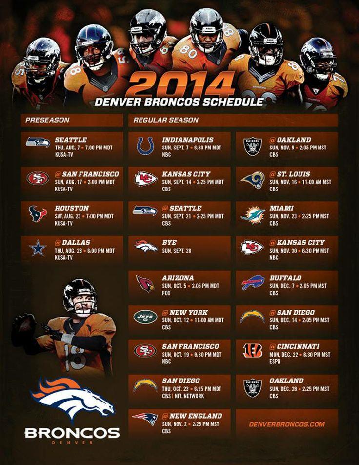 Denver Broncos 2014 schedule