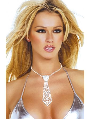 Pretty and Eye-catching, Rhinestone Tie Necklace | Necklace | Jewelery | StringsAndMe