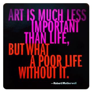 LIFE ART QUOTE