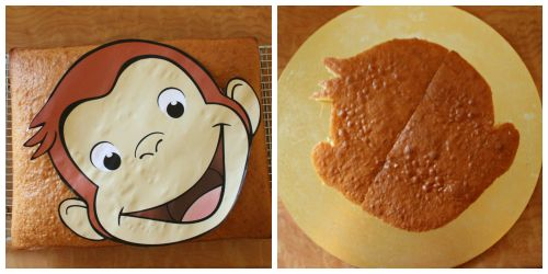 1004 best images about cake ideas on pinterest owl for Curious george cake template
