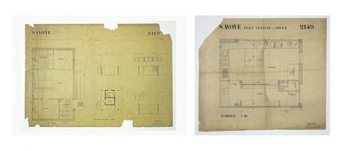 Planos originales de la casa del jardinero y villa savoye for Planos de carpinteria