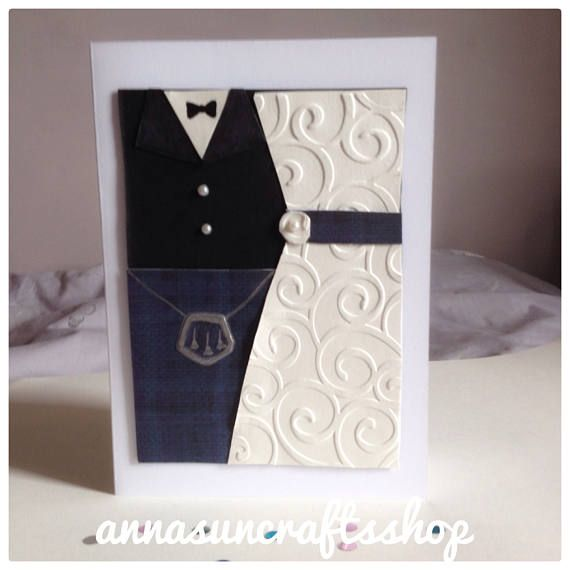 Scottish Wedding Card- Bride - Groom - Kilt - Dress- Special couple - Anniversary - UK Free Postage