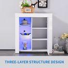 High Gloss White Cabinet Cupboard LED Light Sidebo…