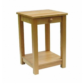 Lacar Solid Oak One Drawer Lamp Table  www.easyfurn.co.uk