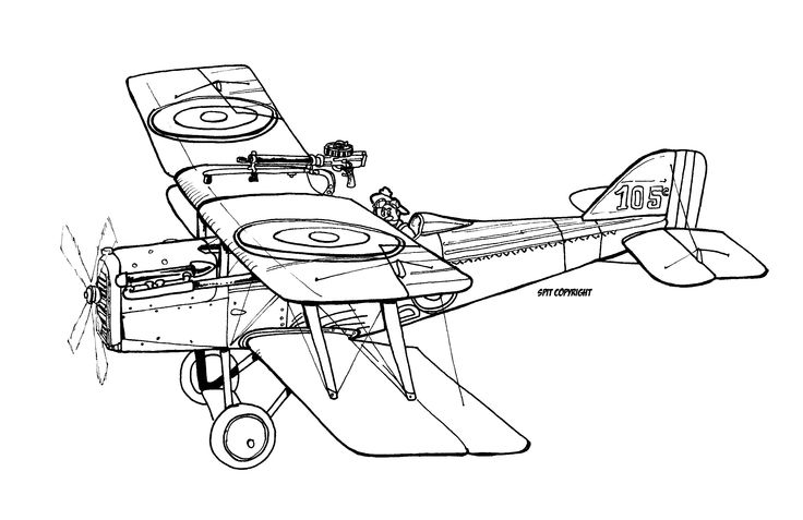 RAF SE5 - illustration david voileaux copyright