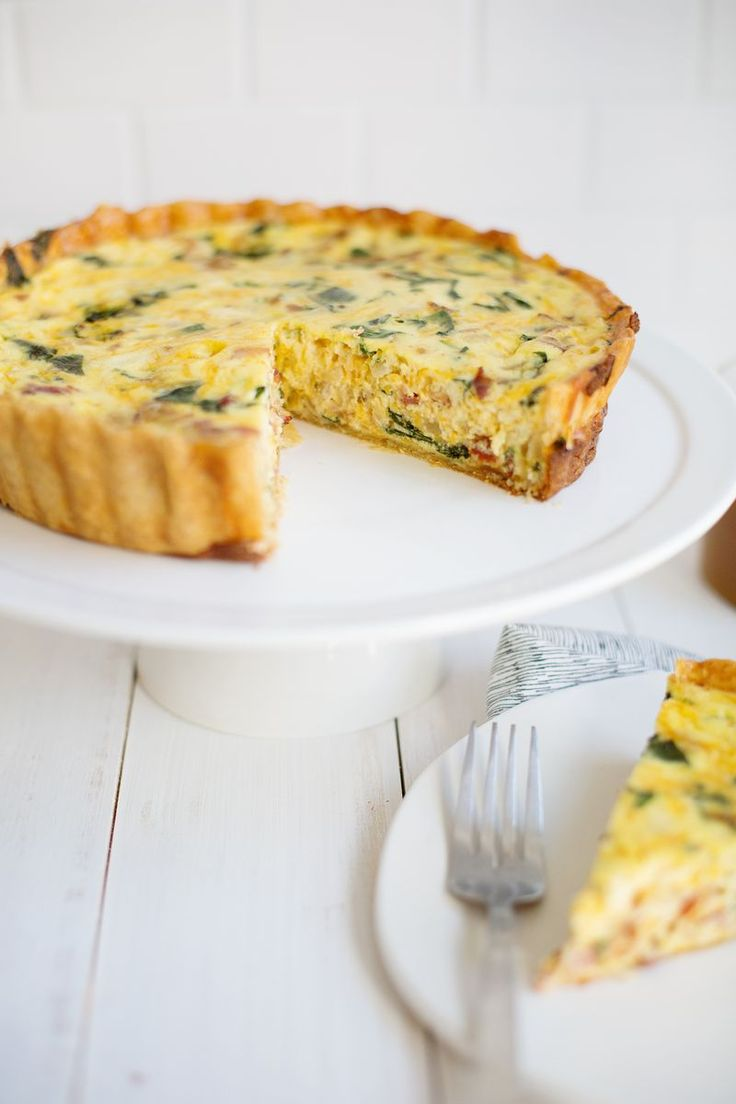 bacon, spinach quiche!!!! YUM!!!! You could use asparagus instead of spinach!!!!! DELISH!!!!