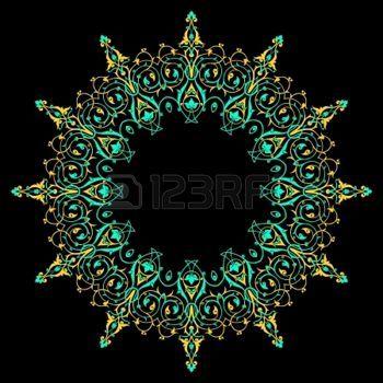 Vettore di modello tradizionale persiano-arabo-turco-islamica photo