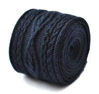 18 tinta unita blu navy a maglia cravatta con a maglia doppia progettazione da