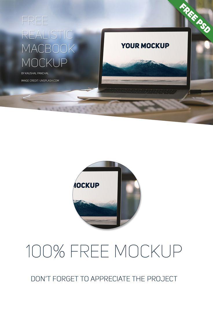 6 poster design photo mockups 57079 - Free Realistic Macbook Mockup Psd On Behance