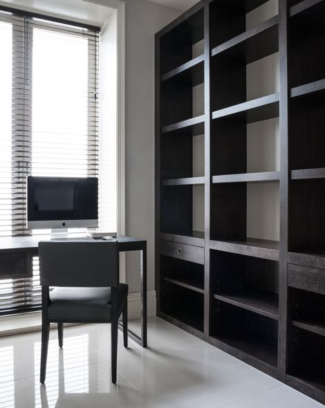 Rupert Bevan - Commissions - Fitted Study Bookcase