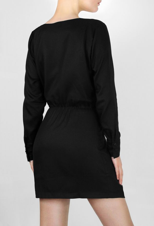 Black Wrap-Around Dress http://honeygold.eu/product/black-wrap-around-dress/