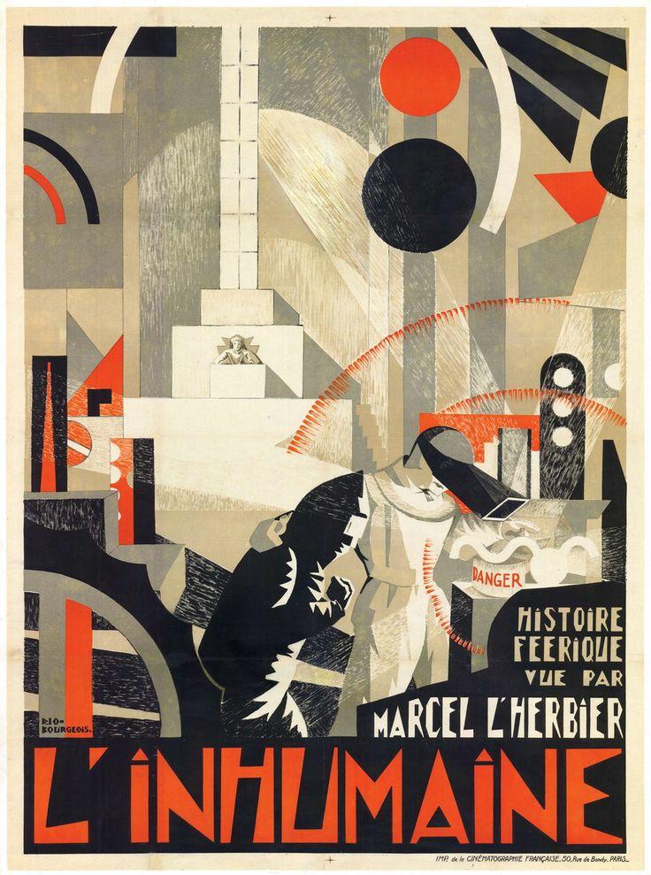 L'affiche de «L'inhumaine» de Marcel L'Herbier