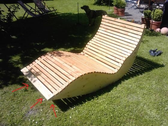 Holz Ausentreppe Selber Bauen Bauanleitung ~   Liege XXL für 2 Personen Bauanleitung zum selber bauen Selber machen