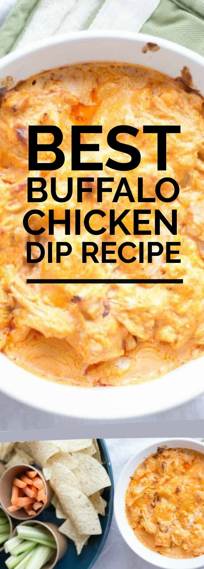 THE Best Buffalo Chicken Dip Recipe