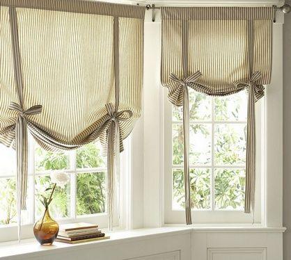 короткая штора для кухни