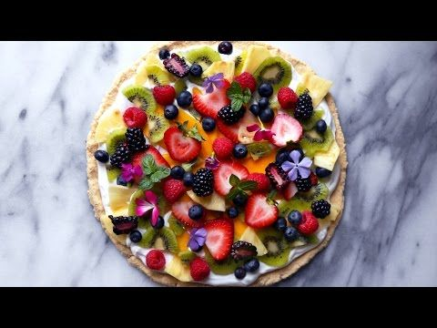 Healthier Tropical Fruit Pizza - Wifemamafoodie