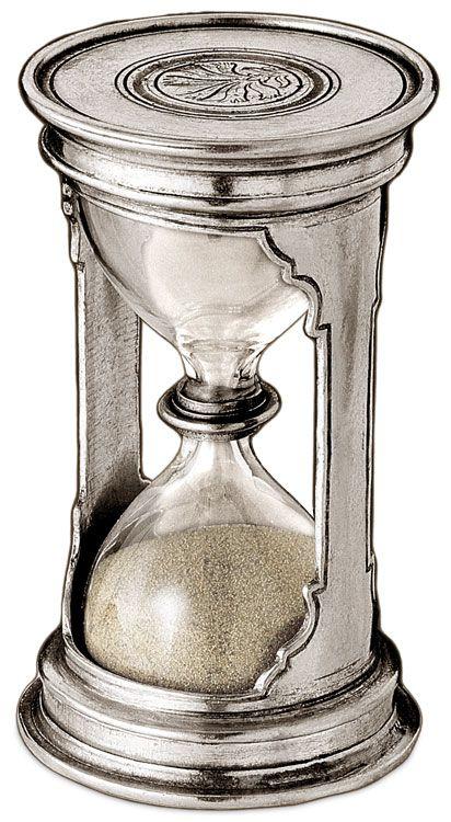 Clessidra cm h 12 -  2,5 minutes (Peltro, Vetro) - collezione: Pitagora. Cosi Tabellini.