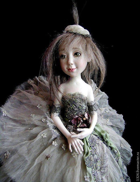"""Купить Кукла """"Антракт"""" - серебряный, балерина, ребенок, девочка, танец, театр, отдых, нежность"""