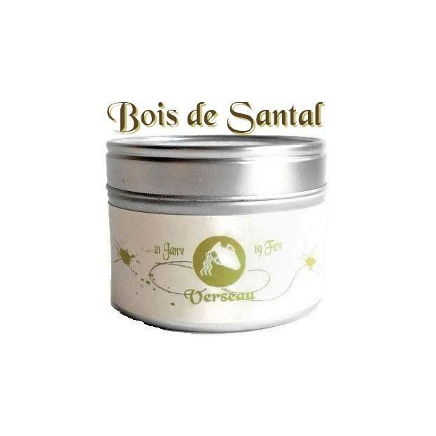 Bougie Parfumée Signe Zodiaque Verseau au Bois de Santal Cire Végétale Candle Bougie Naturelle Bougie Personnalisée : Luminaires par bougies-et-cires-parfumees-dude
