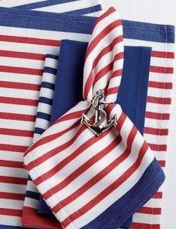 Patriotic Stripes Placemat And Napkin Sets