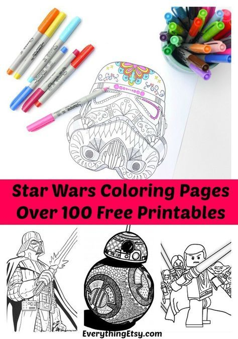 100 Star Wars Free Printable Coloring Pages For Both Adults And Kids Indie Crafts